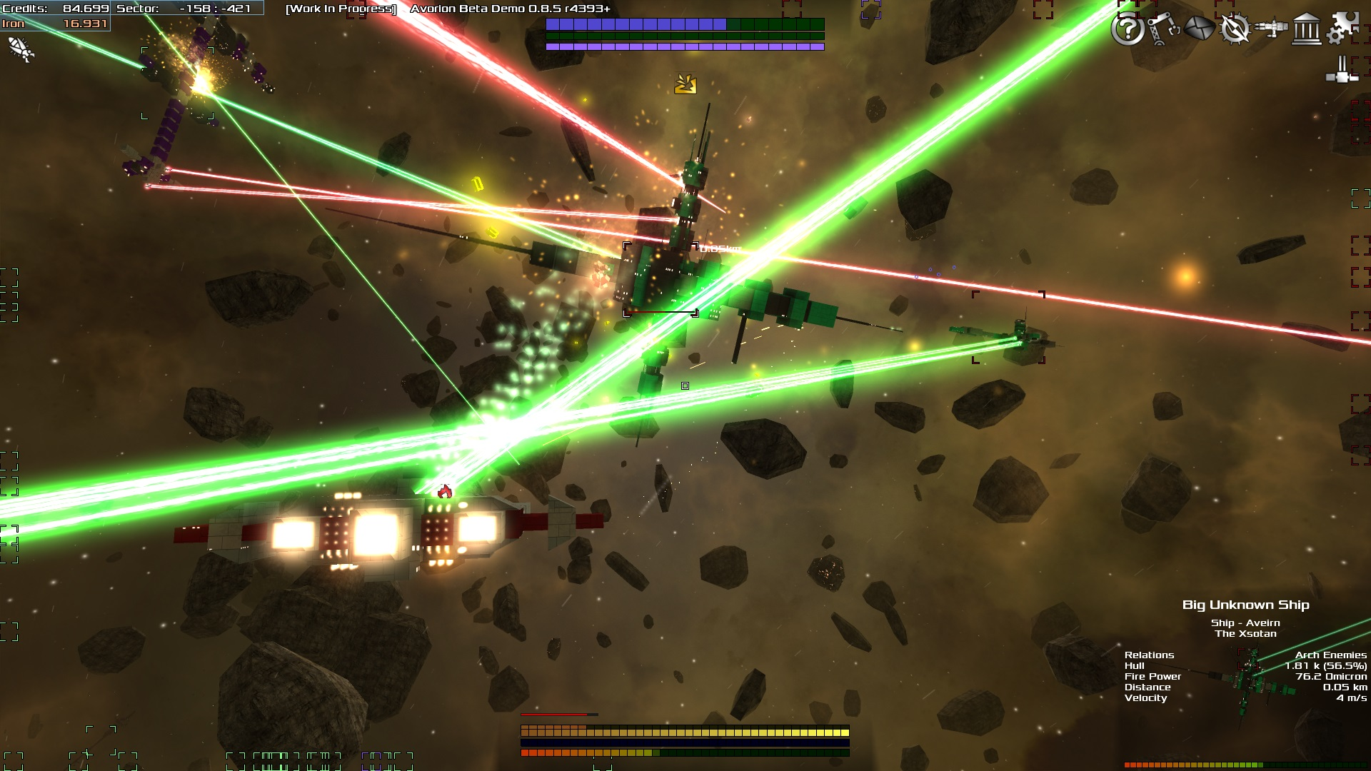 The entire gameplay of Avorion has a faster pace now, ships are faster, weapons are stronger