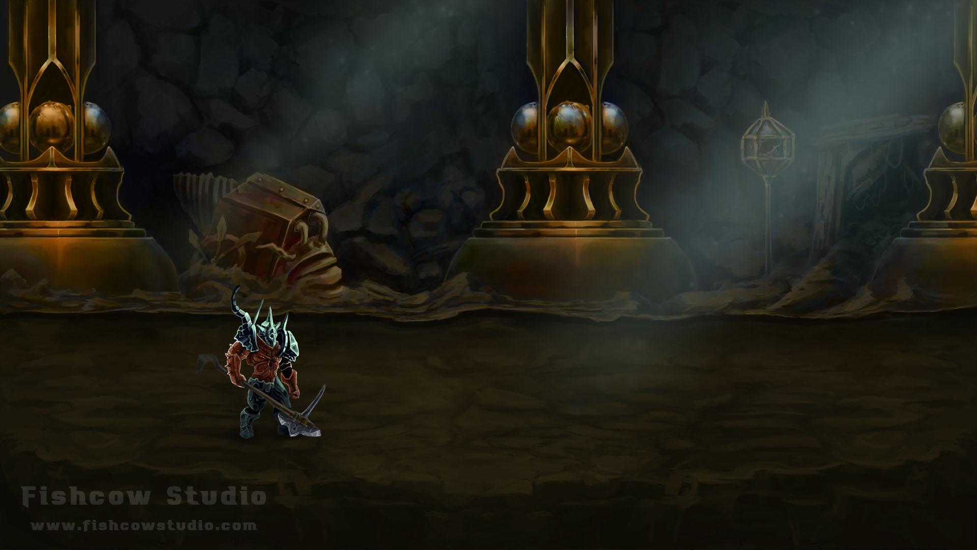 Figure 7 – Underground dungeon with gothic influences