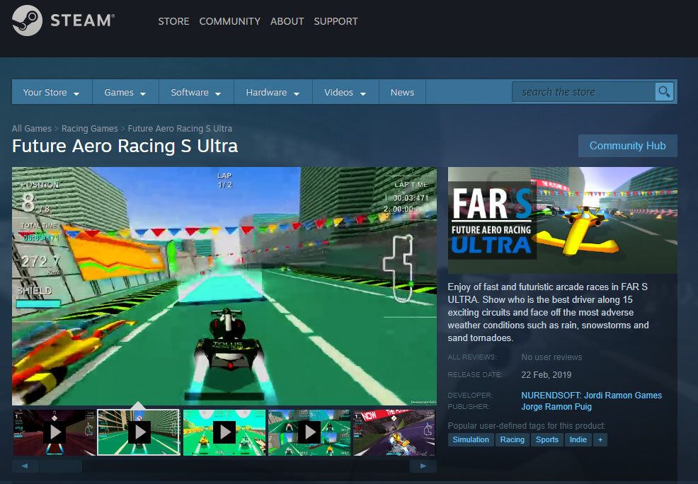 FARSULTRA: Steam page
