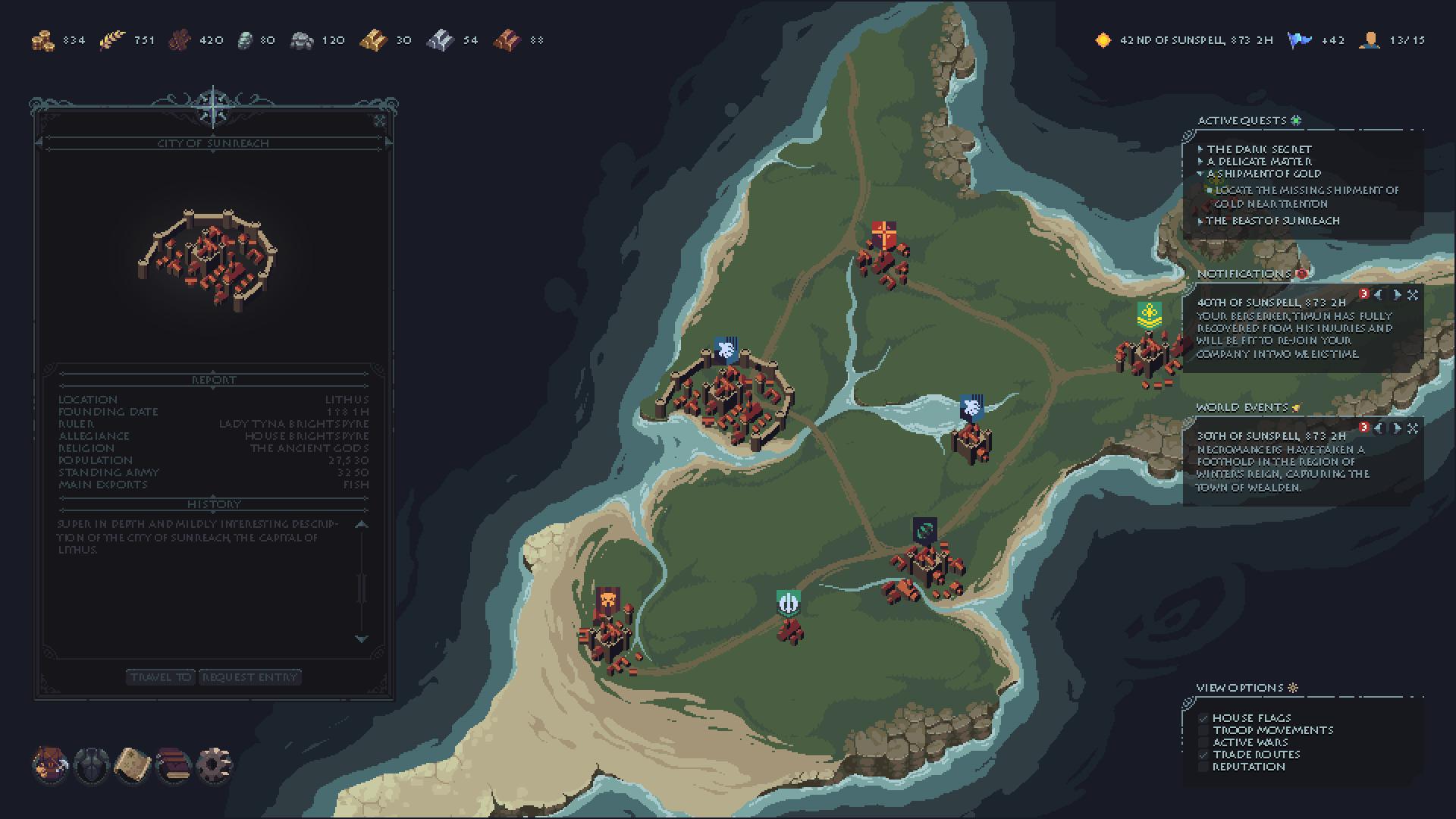 World Map UI