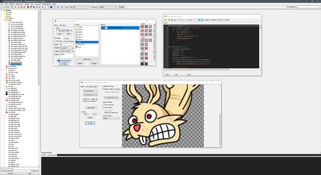 Fatty Rabbit Hole in GameMaker Studio 1.4