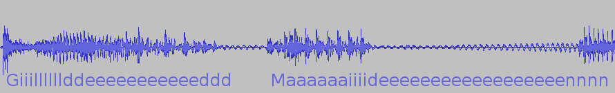 Gilded Maiden's shout waveform
