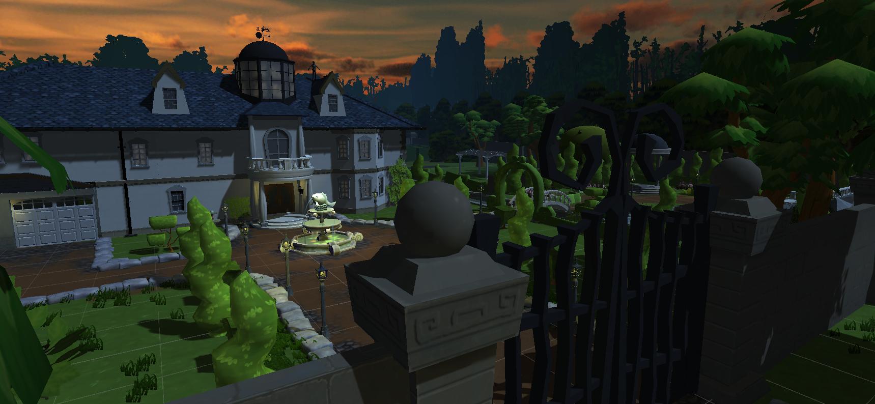 front mansion at dawn 2