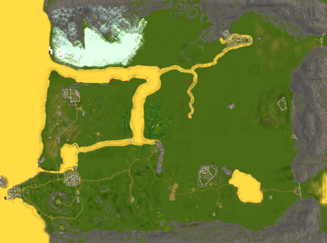 The Fallen Chronicler Game Map ©