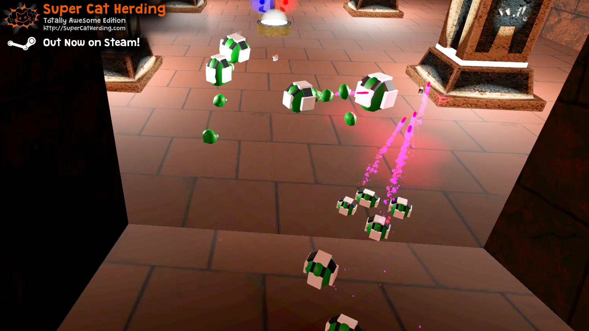 Goo Enemies in the New Cydonia Level - Super Cat Herding: Totally Awesome Edition