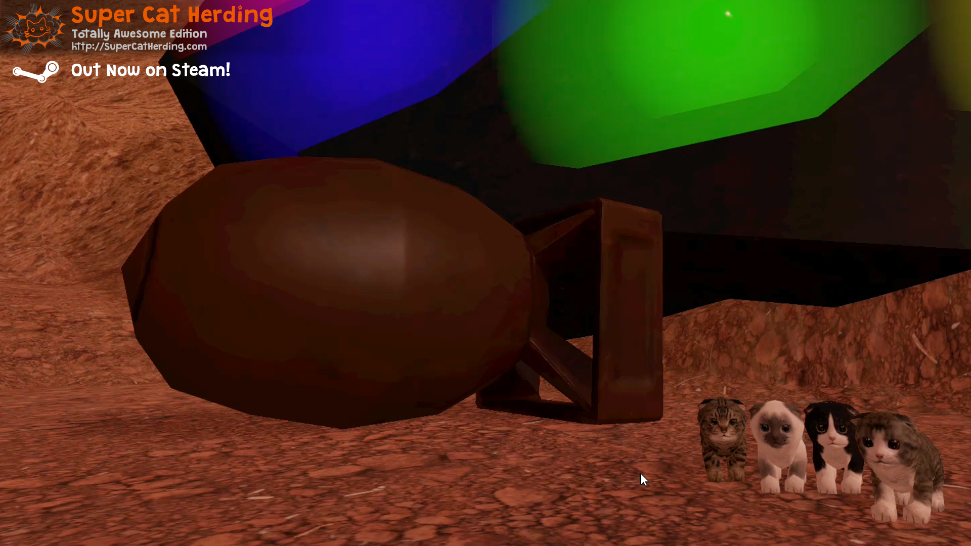 Landing on the New Cydonia Level - Super Cat Herding: Totally Awesome Edition