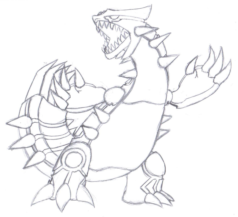 Pokemon Fan Pic - Angry Groudon sketch image - norbi91