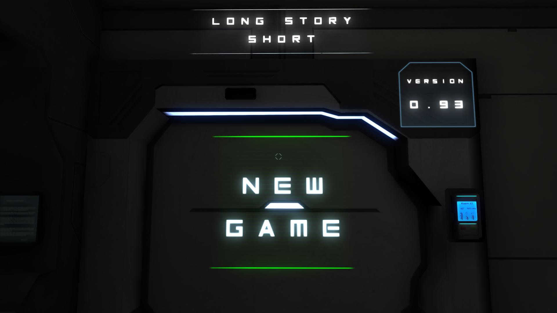New Game MENU