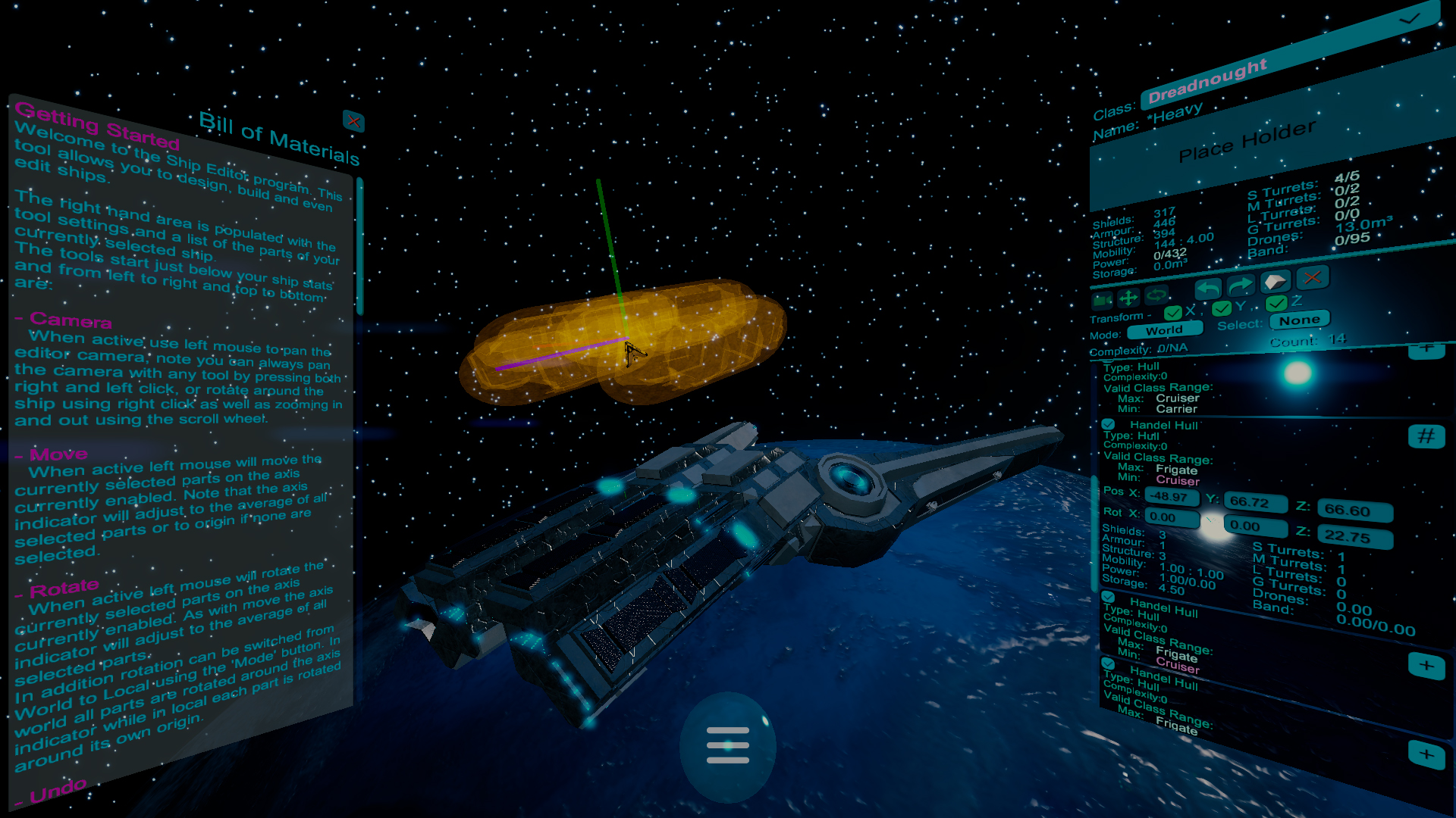 Demo Ship Editor