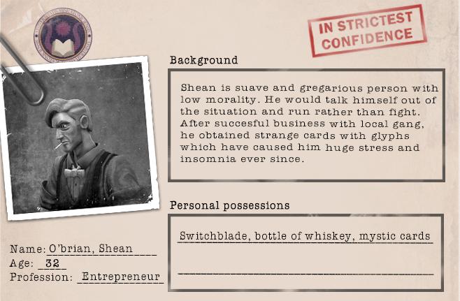 Character Profile template shean