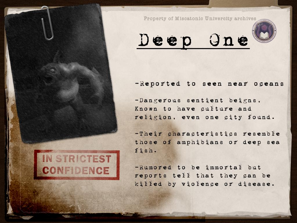 Monster template DeepOne