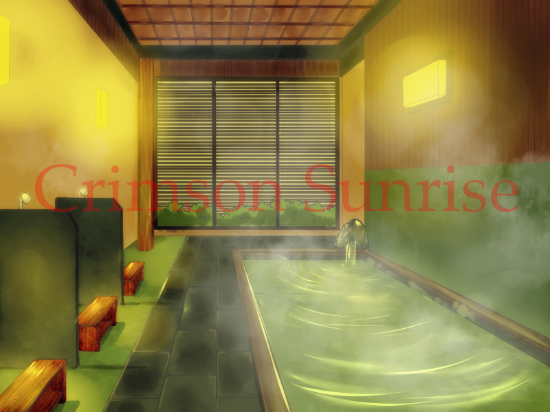 A relaxing, private indoor spa for couples to spend some steamy time together.