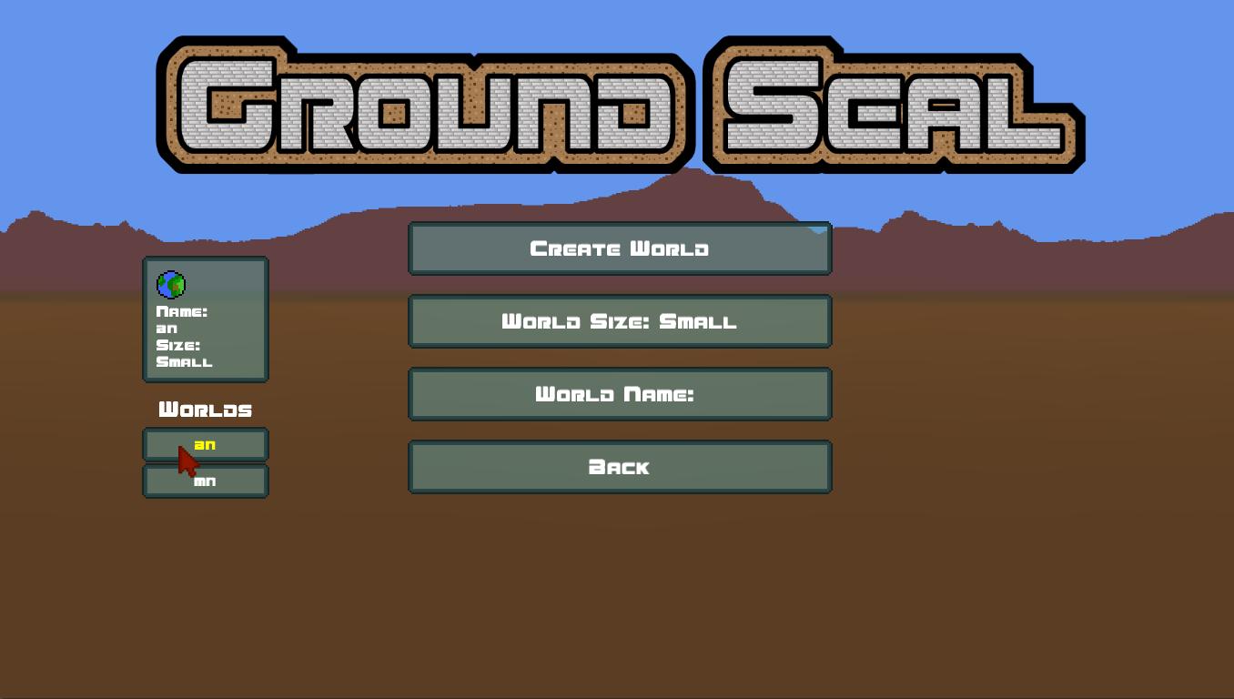 GroundSeal Menu