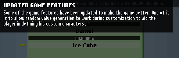 updated game features