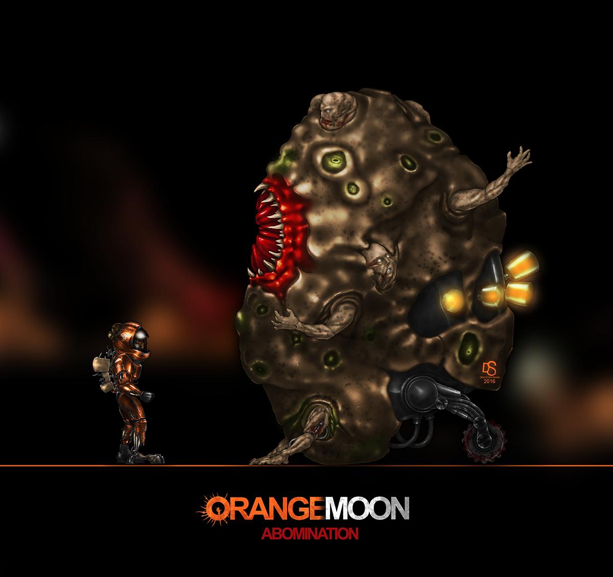 Orange Moon Abomination Concept art