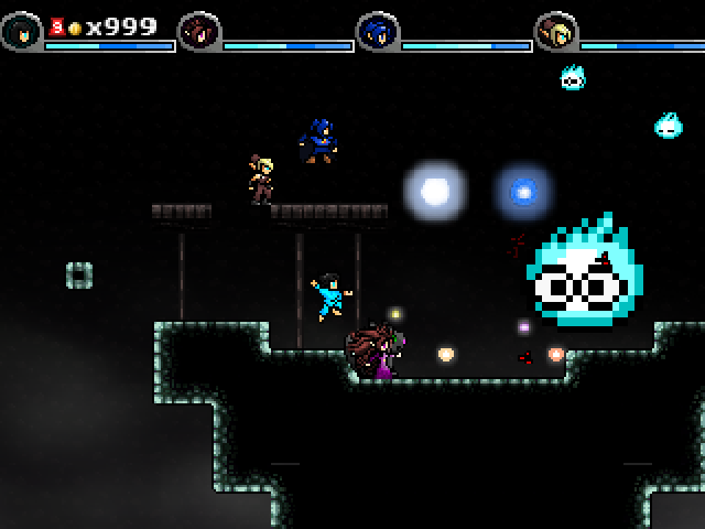 This mini-boss later becomes a mouse controlled familiar that helps you out!