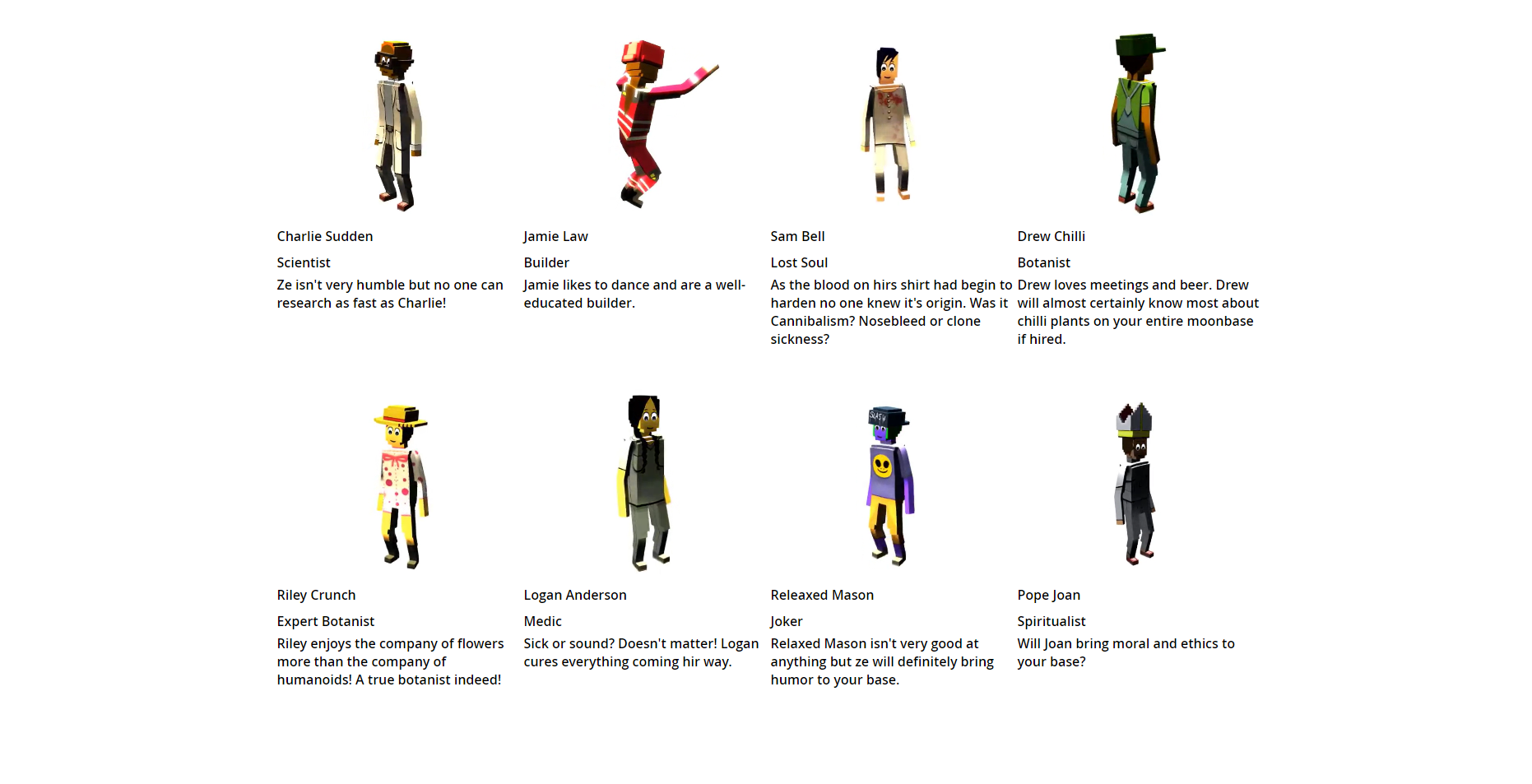 example characters
