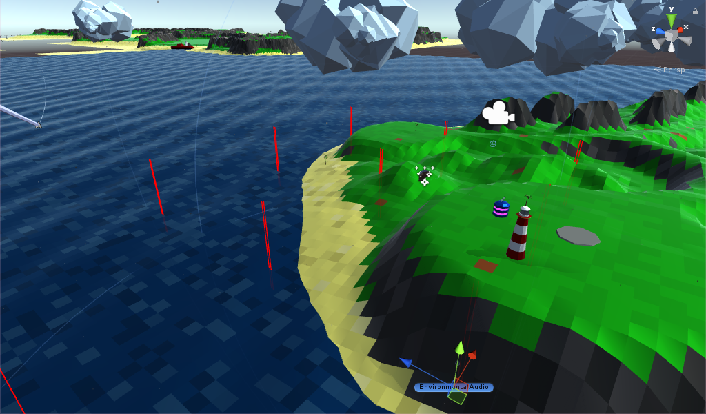 Testing terrain heights to calculate sea audio volume