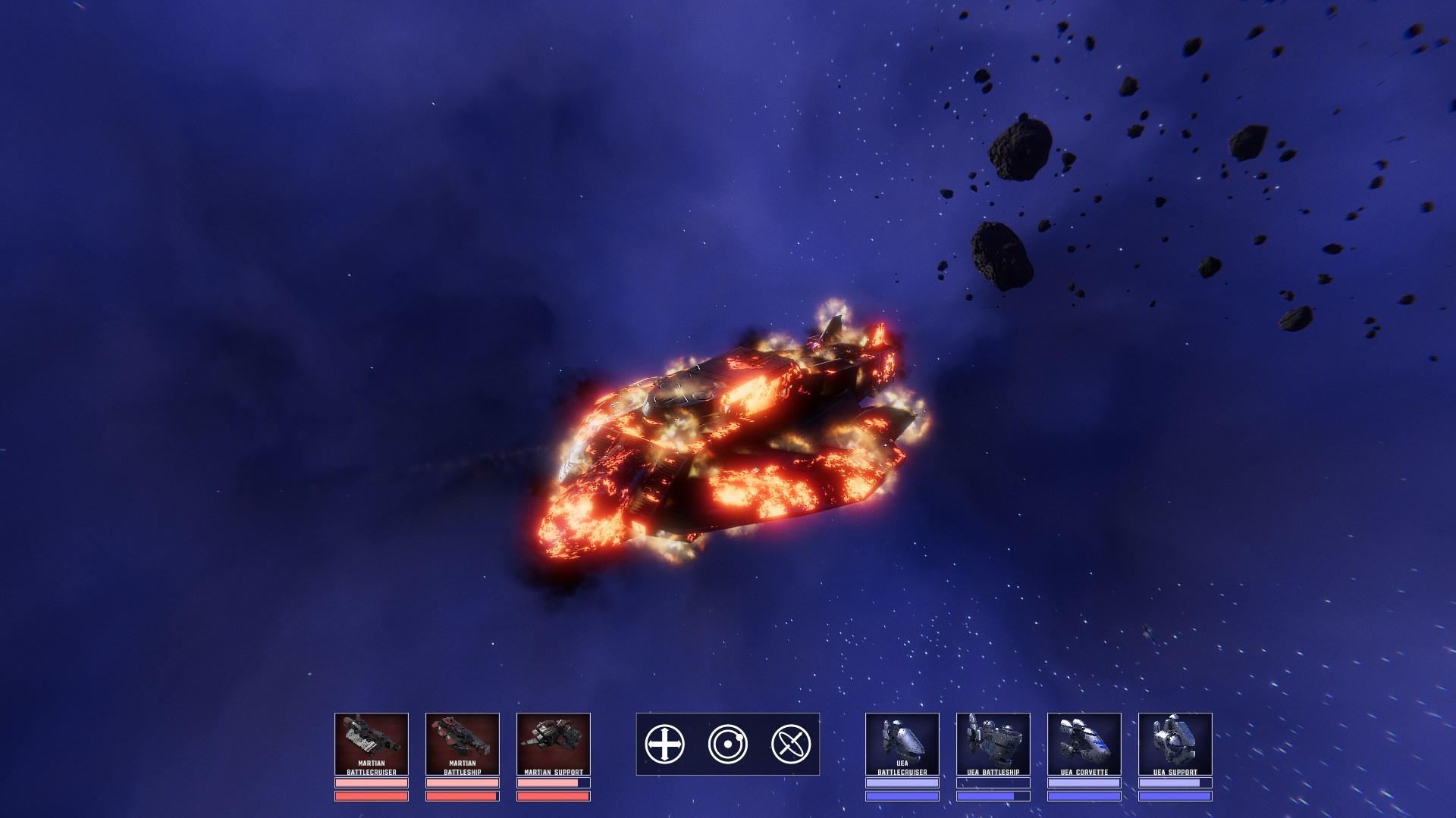 Corvette on fire