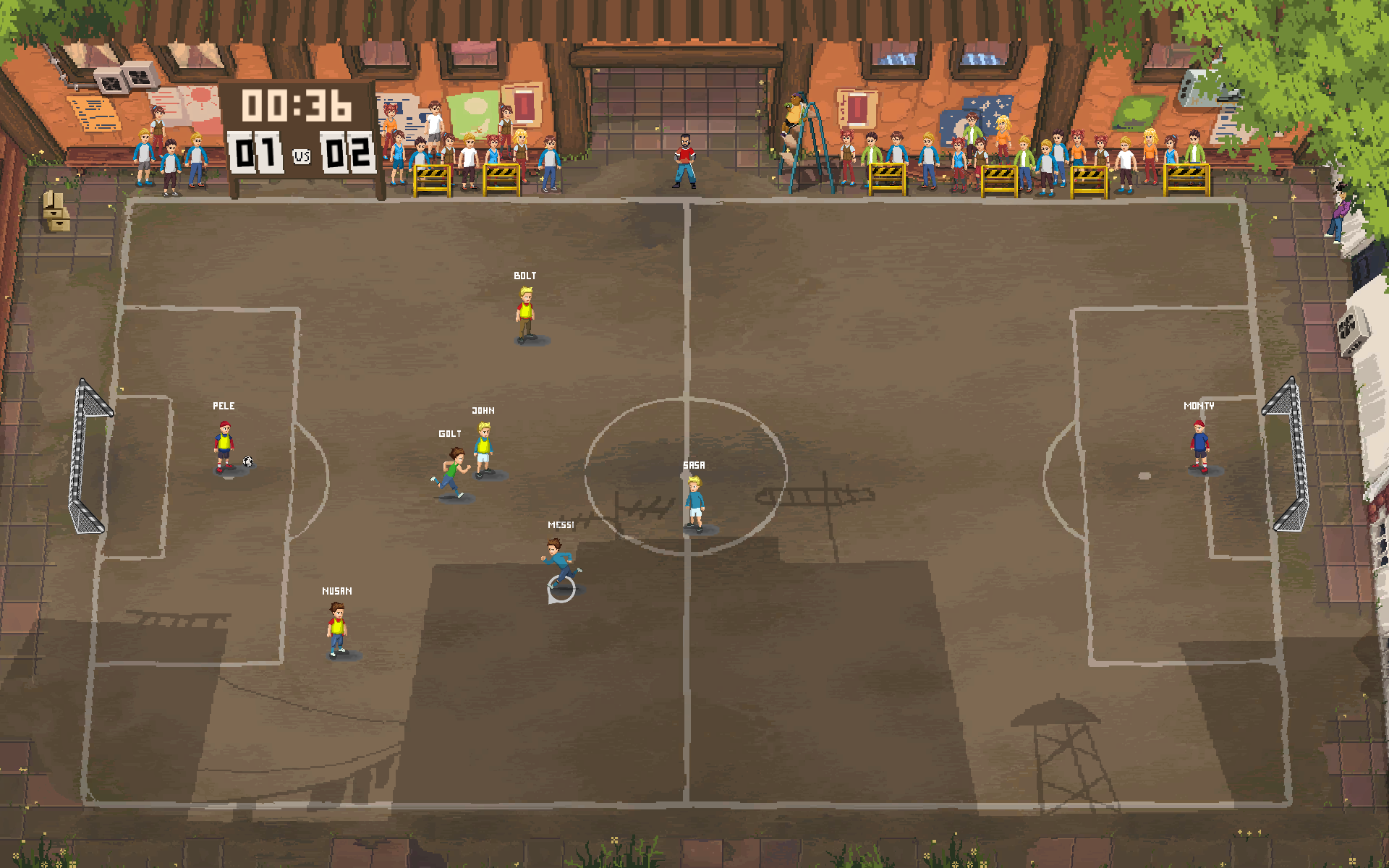 Football Story gameplay match screen