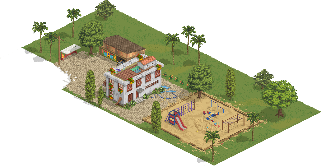 One of map tiles