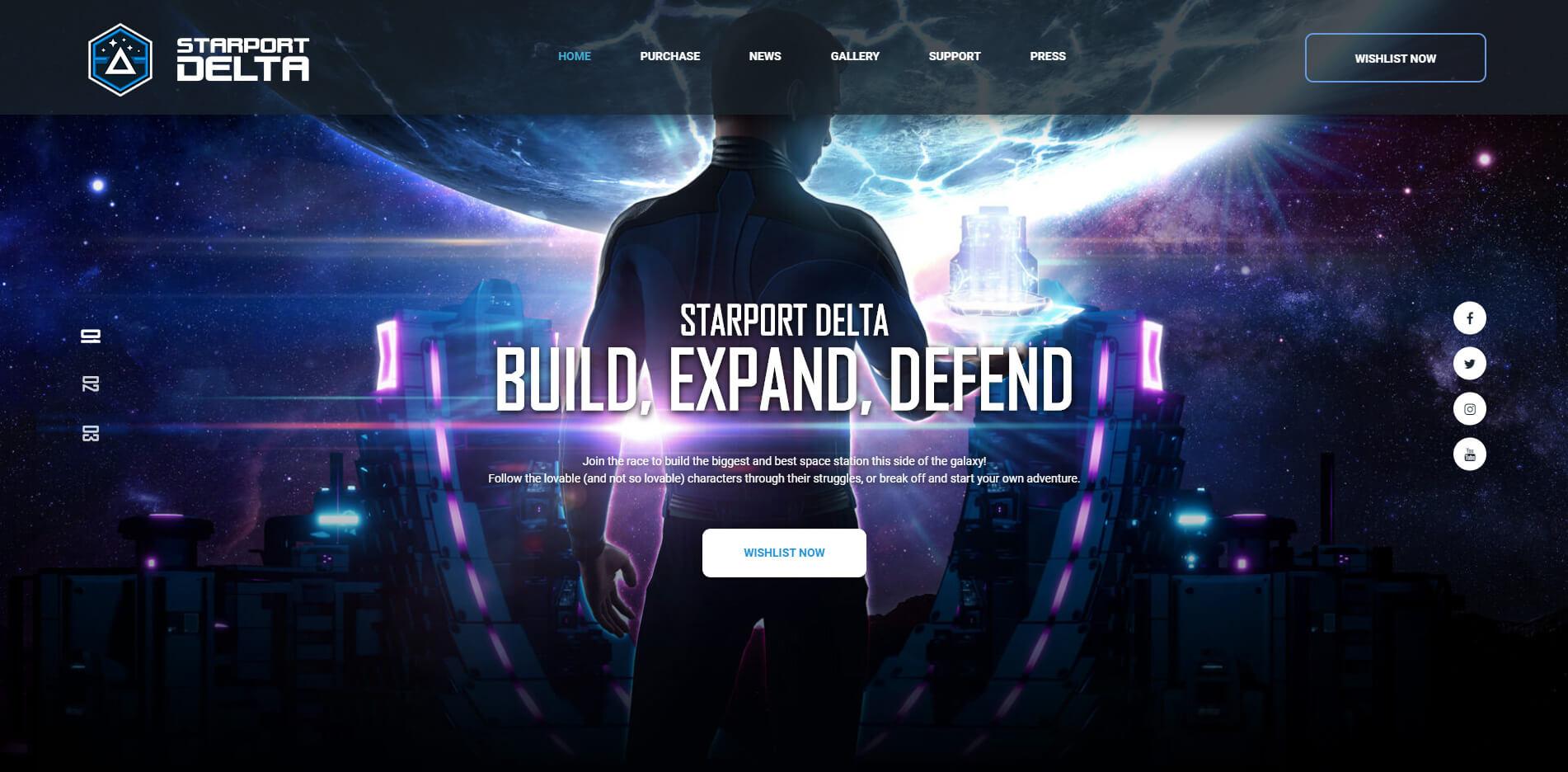 Starport Delta website