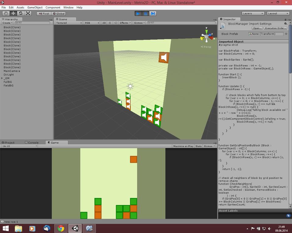 Metrix2D Unity3D Editor