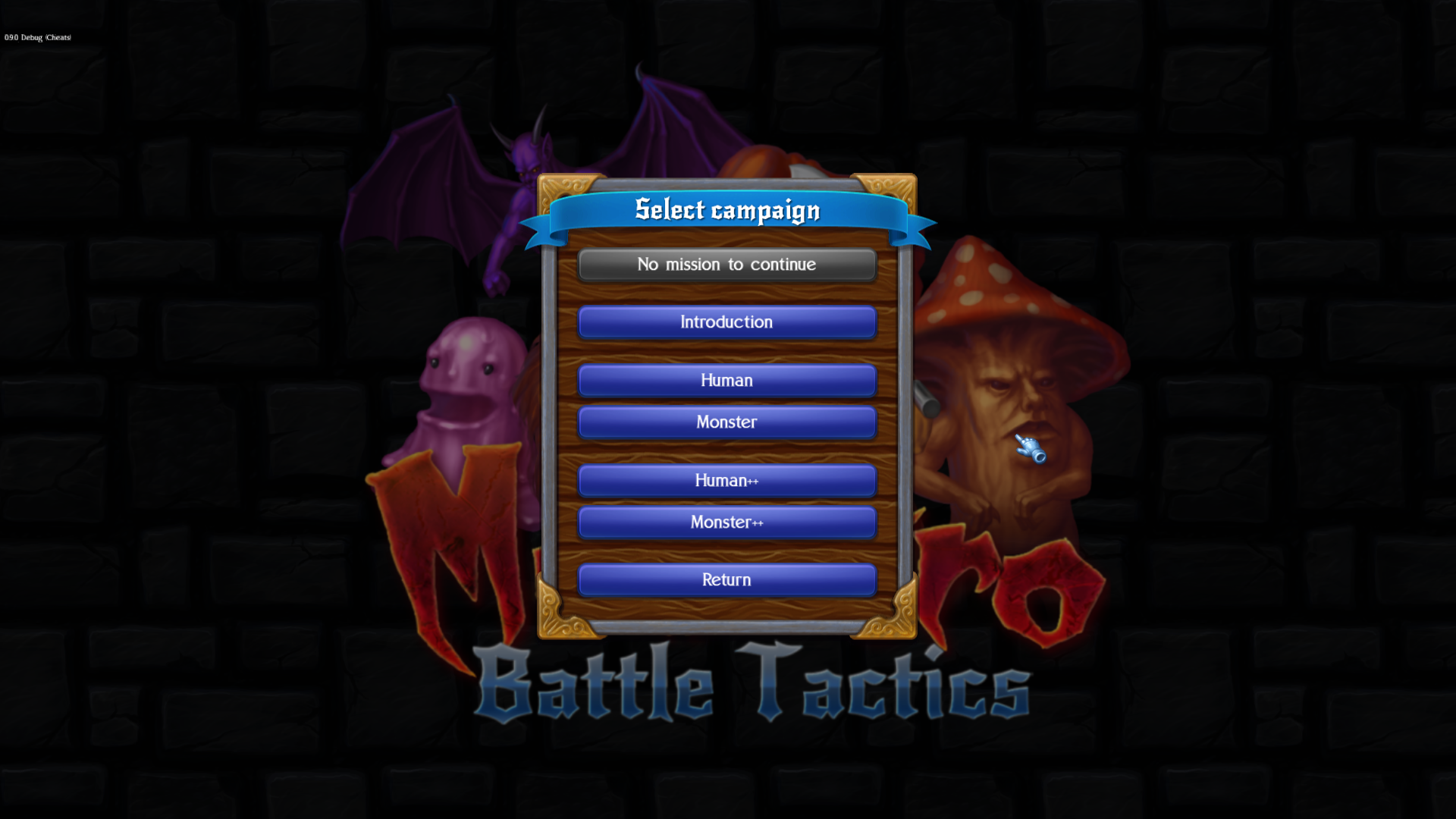 Monstro: Battle Tactics - List of campaigns