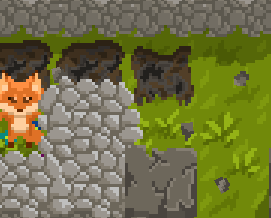 Forest Strike - Stone particles