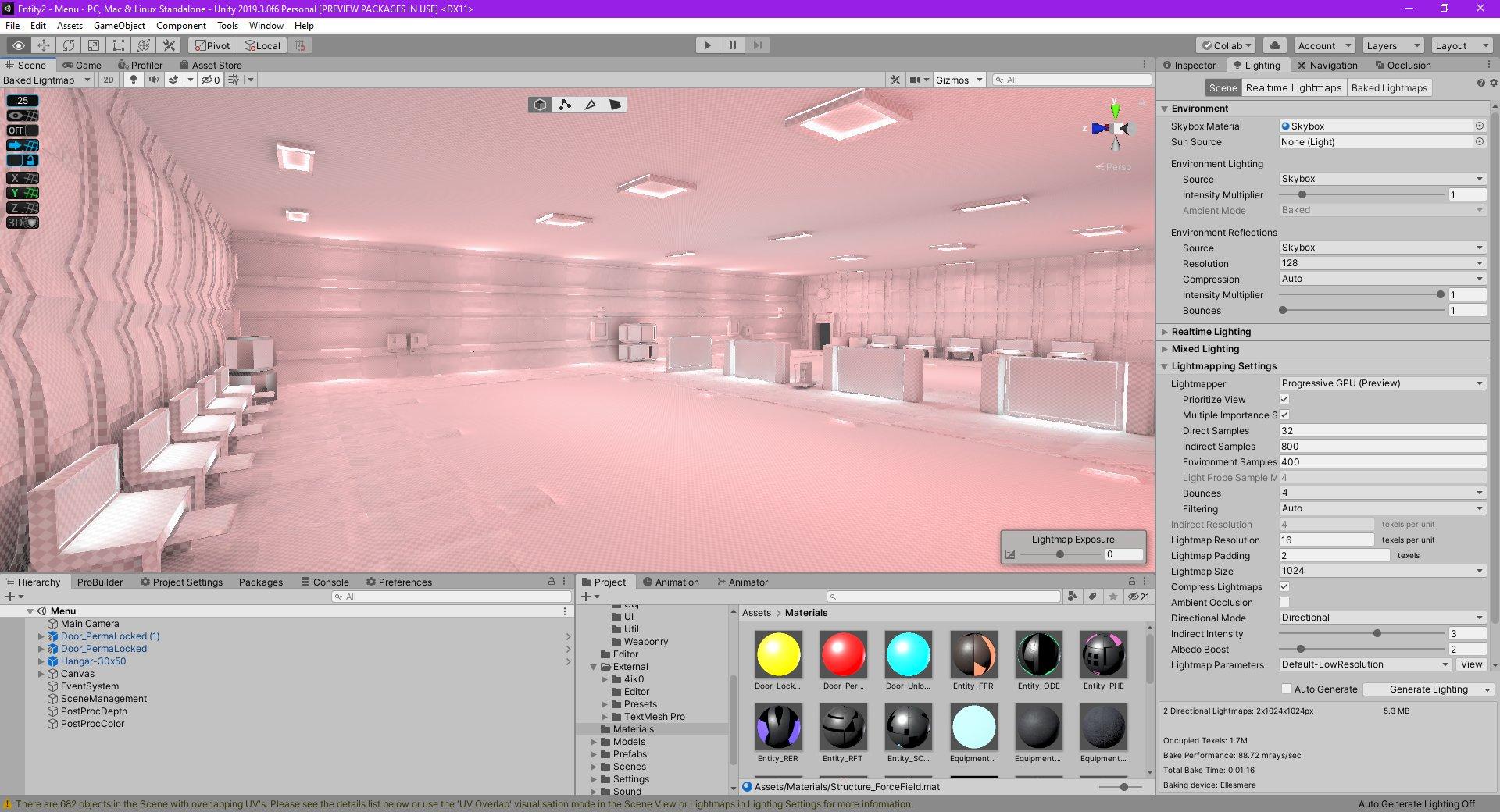 Screenshot of the improved lightmap