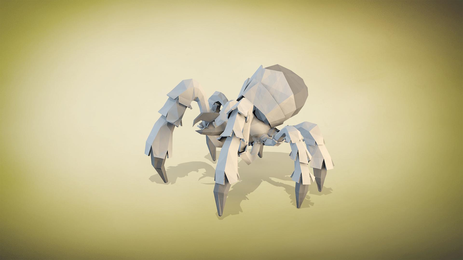 spider tank paper render