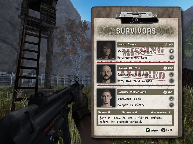 DeadDawn Interface Preview 1