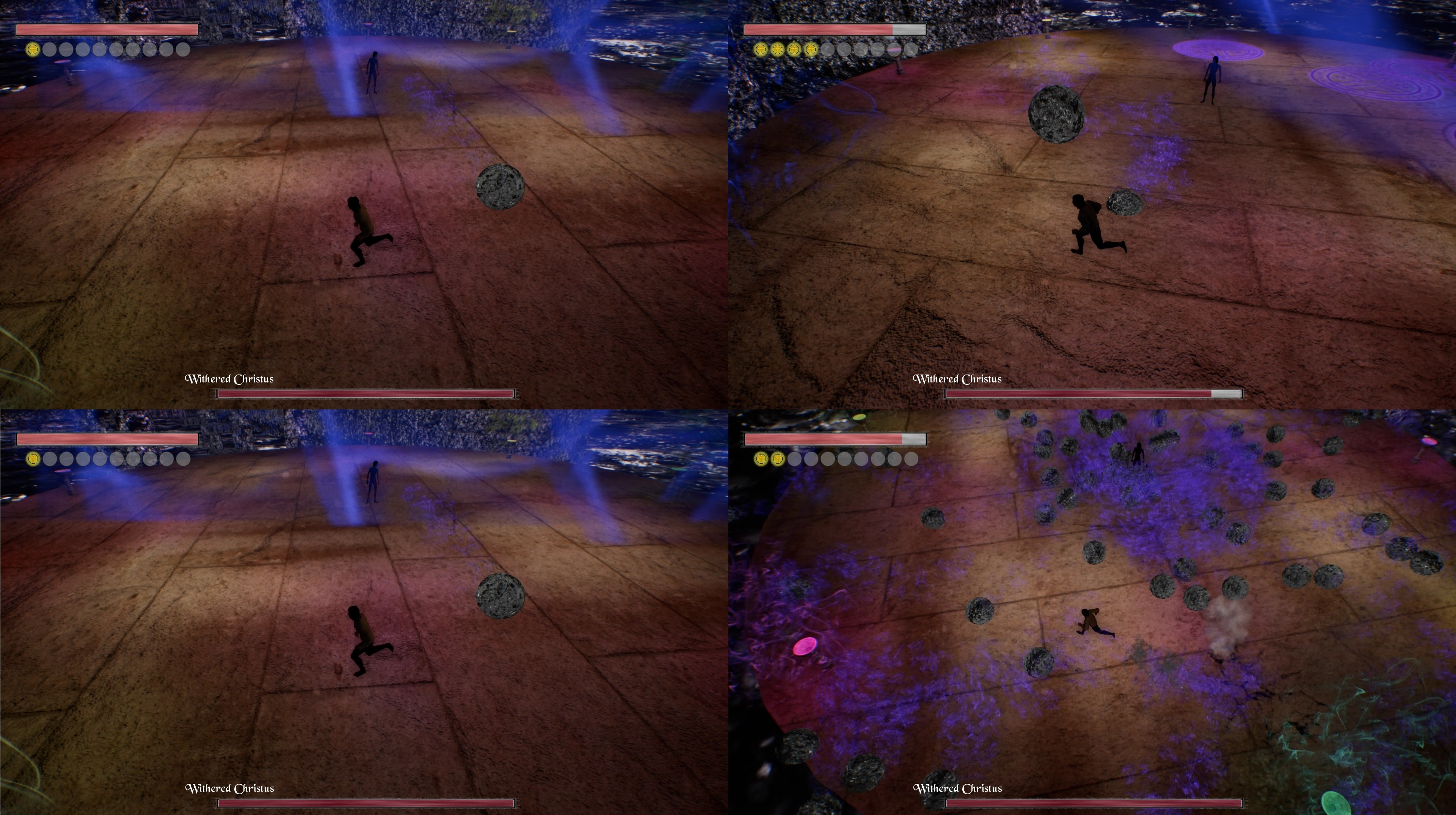 The four main attacks of Withered Christus during Phase 1