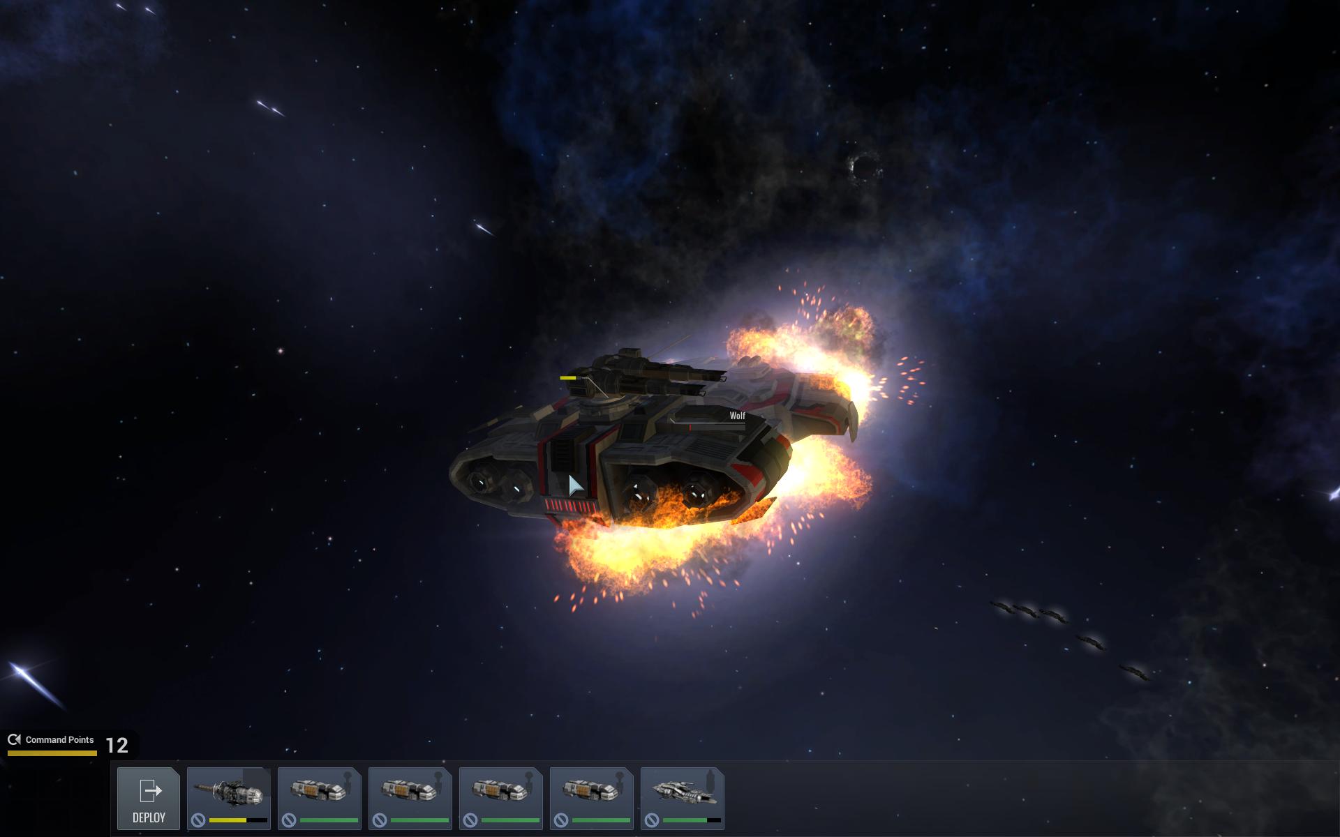 A gunship taking fire