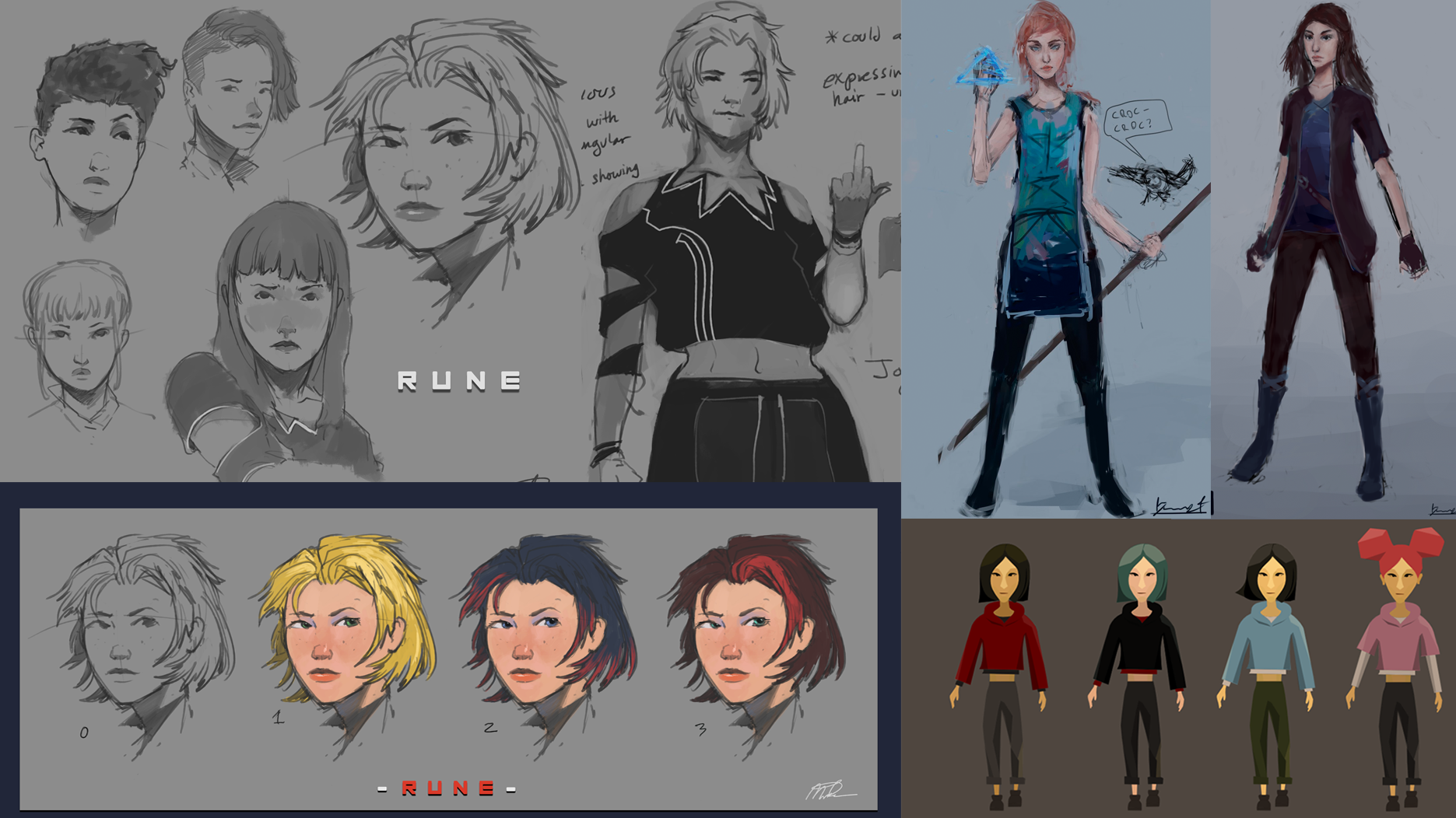 Concept art for our main character, Rune.