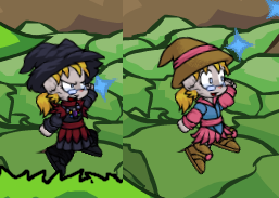 Lydia's two new outfits.