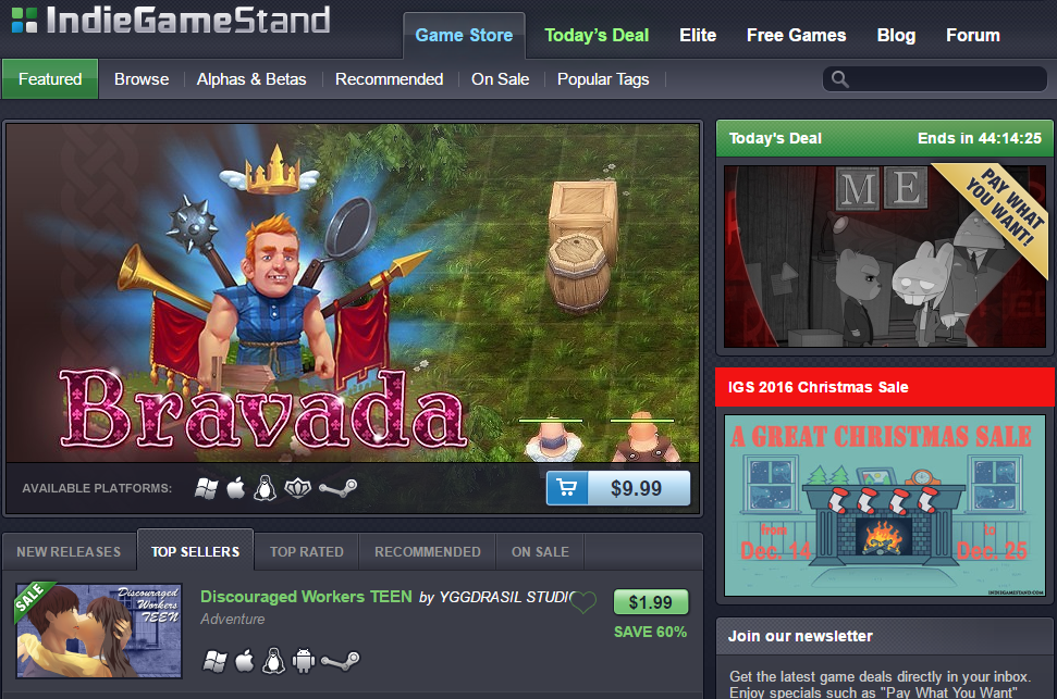 IndieGameStand Topsellers #1