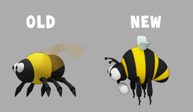 Wacky Spores: The Chase bumblebee comparison