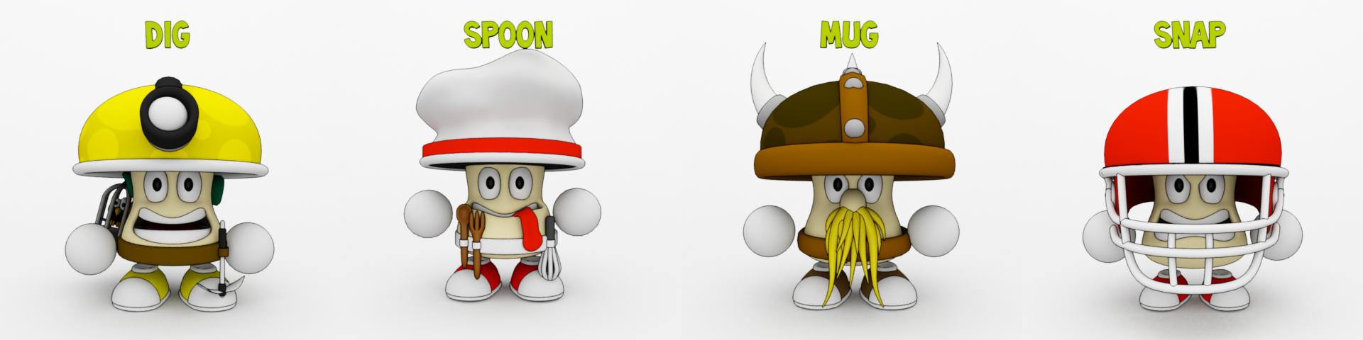 Wacky Spores: The Chase new 3D mushroom