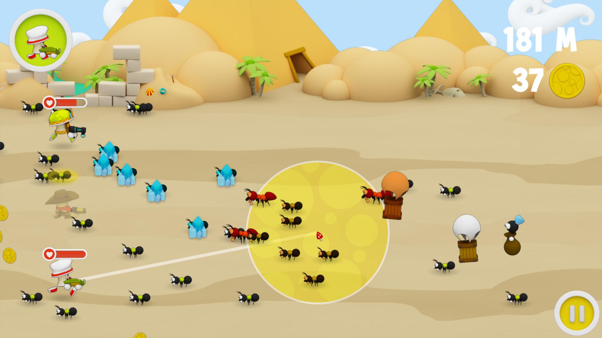 Wacky Spores: The Chase desert screenshot
