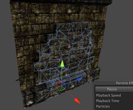 Wall in Unity with Rigidbodies