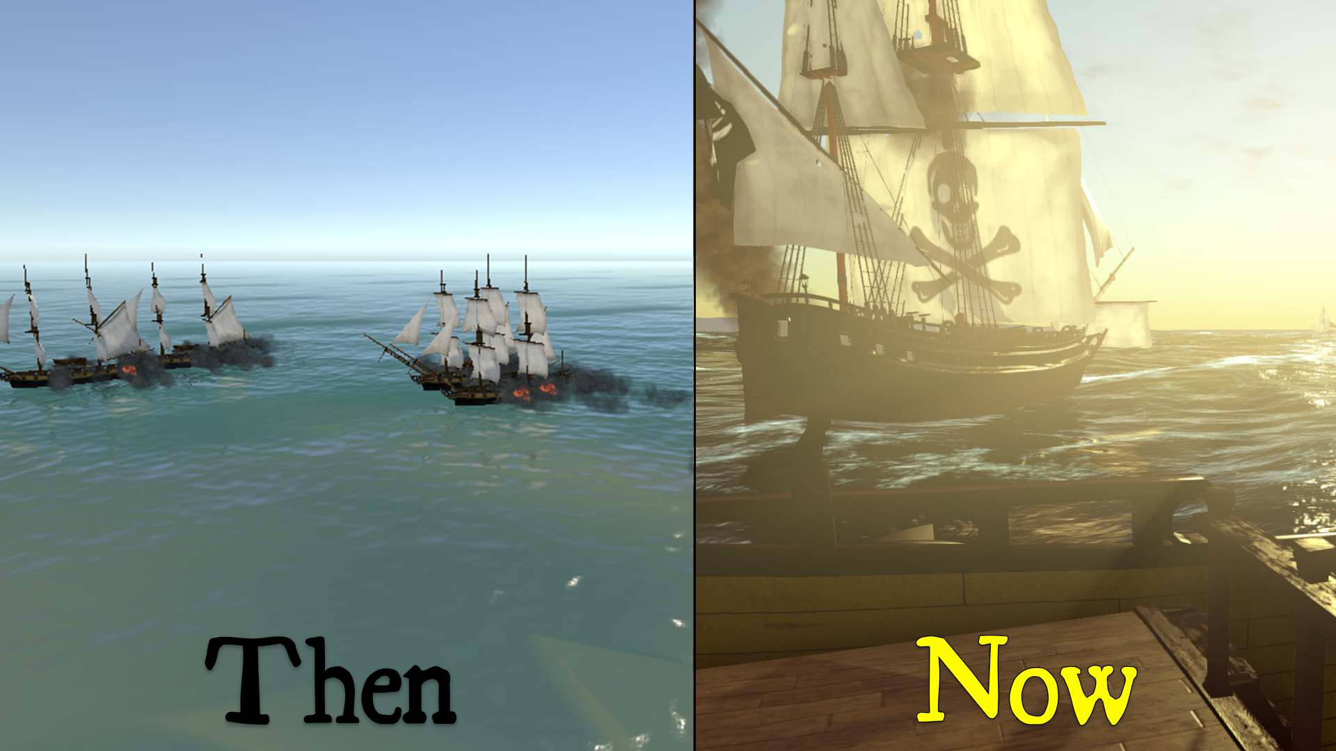 then_and_now_1 Naval Battle Game Comes to Life - End of Year Summary
