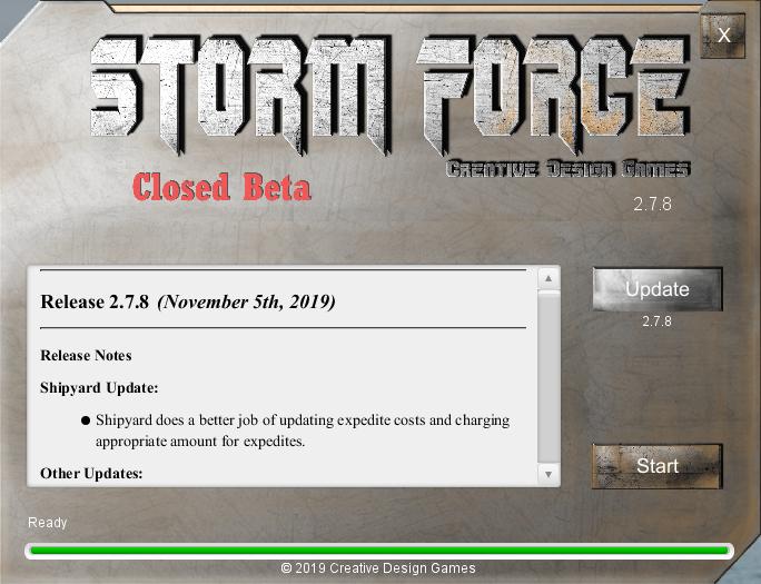 Closed Beta Testing Nov 2019