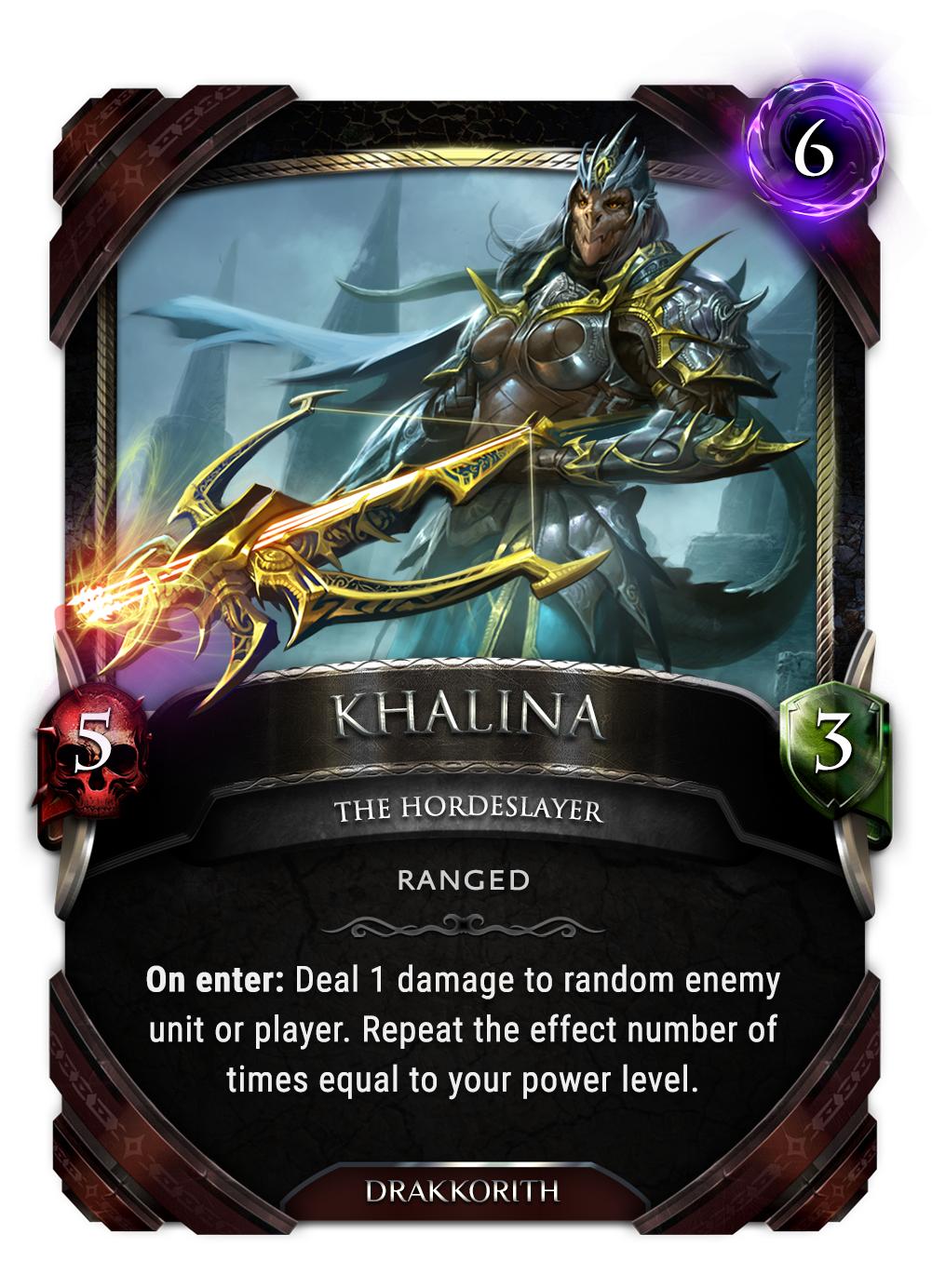 Khalina card