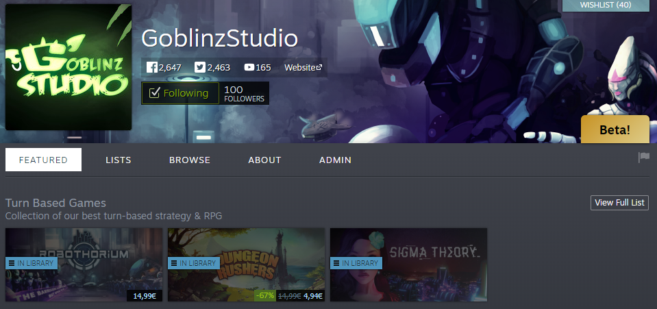 steam 100 followers