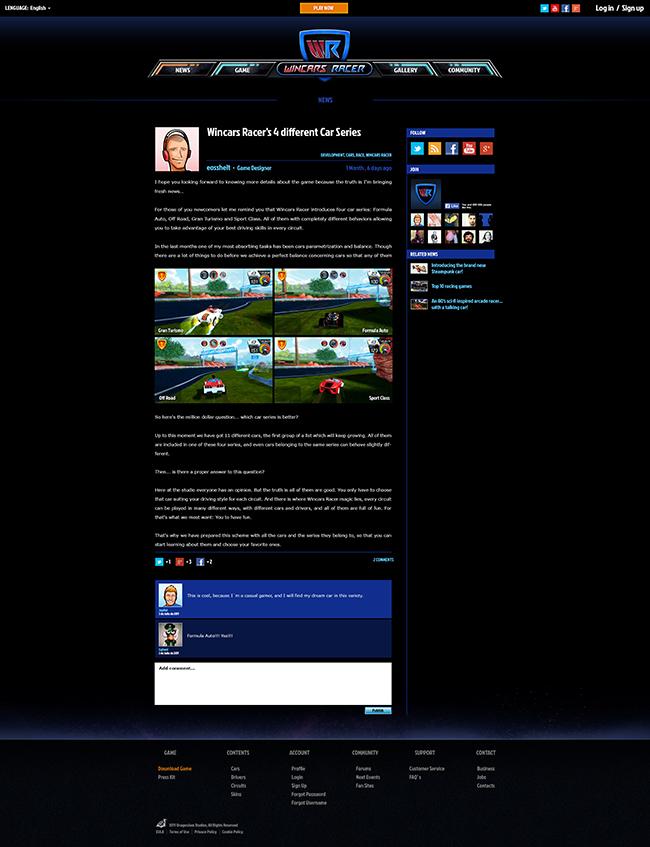 wincars racer website