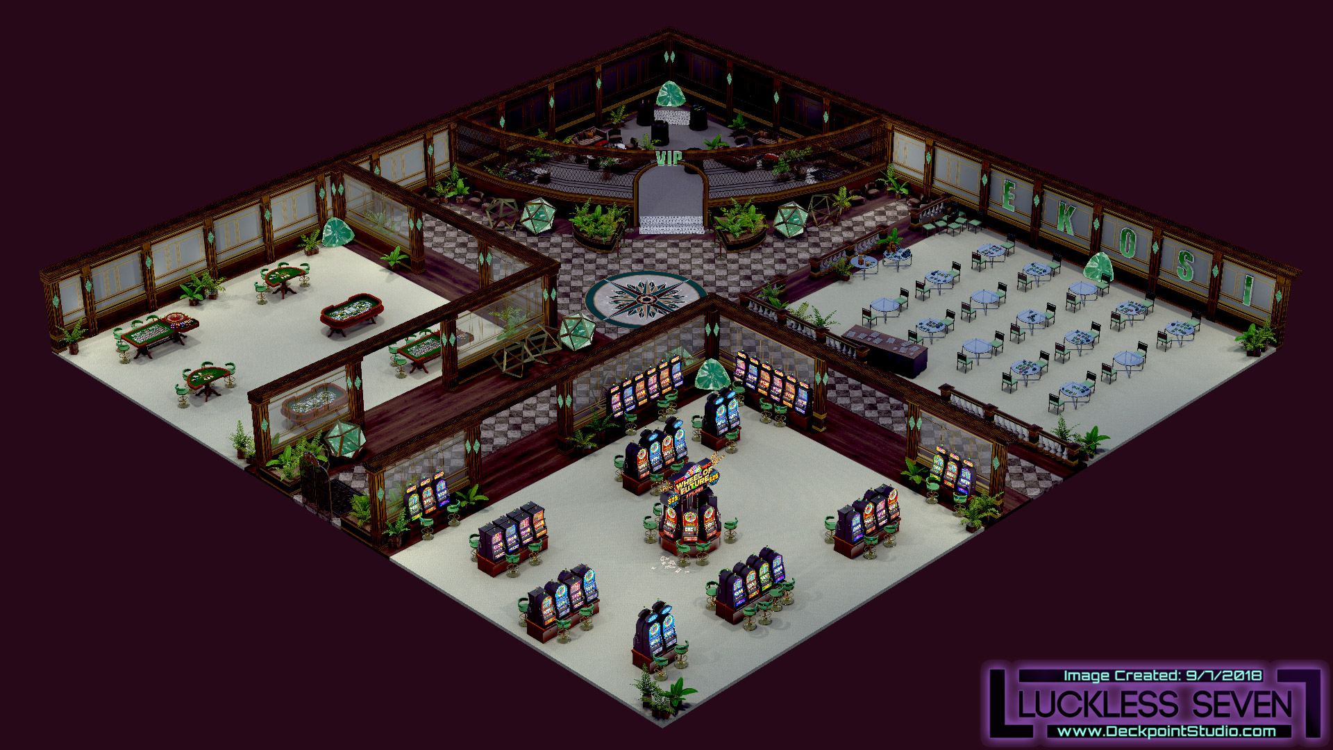 Emerald Casino Interior Luckless 7