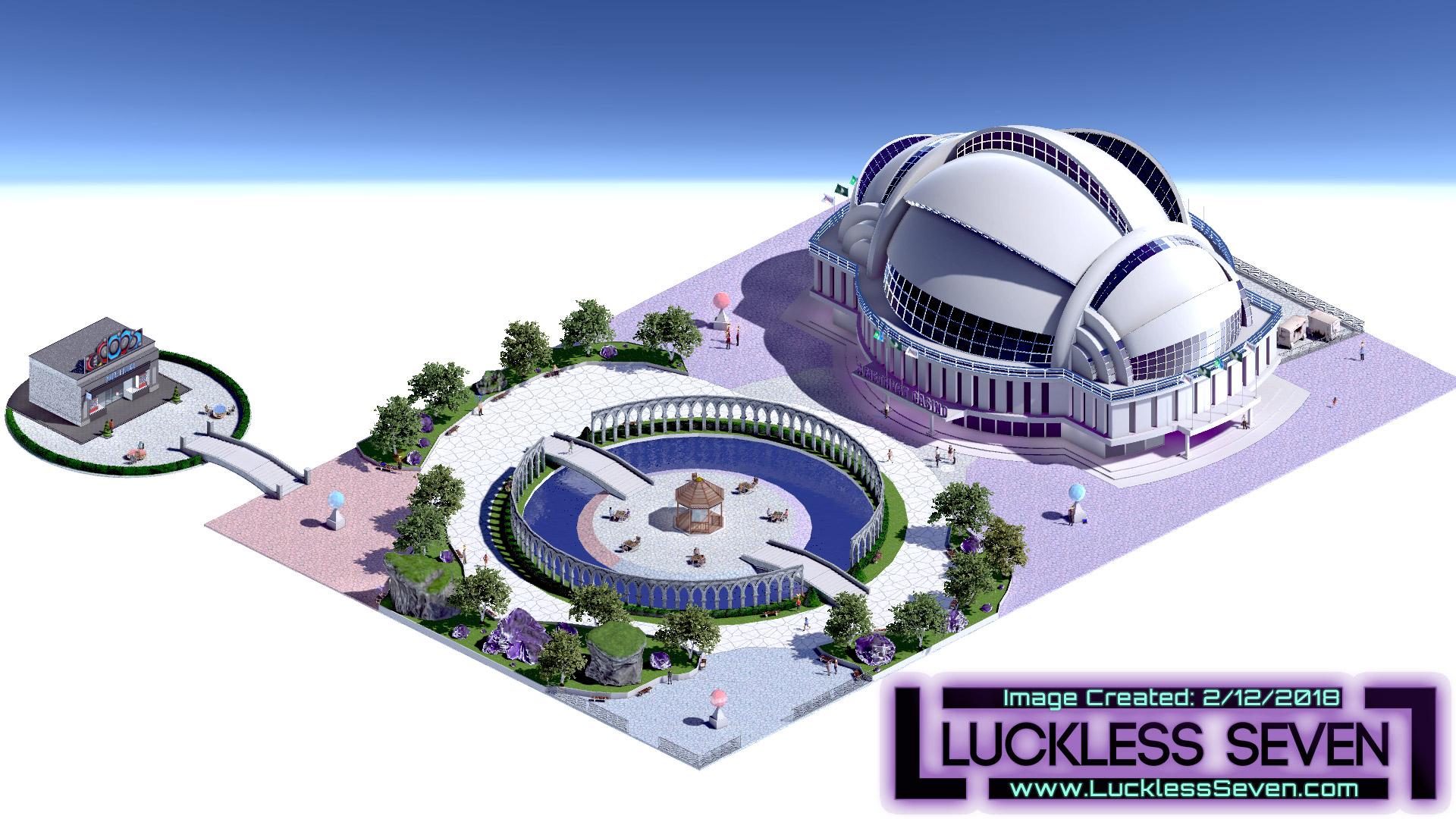 Luckless Seven Amethyst Casino E 5