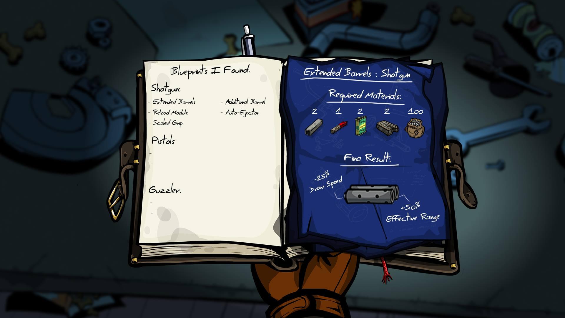 Blueprints in Bucky's Journal