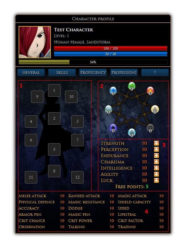 char profile edit